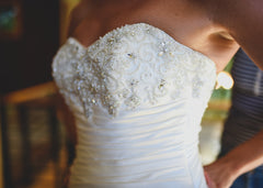 Maggie Sottero 'Strapless Satin Wrap' - Maggie Sottero - Nearly Newlywed Bridal Boutique - 2