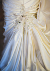 Maggie Sottero 'Strapless Satin Wrap' - Maggie Sottero - Nearly Newlywed Bridal Boutique - 3
