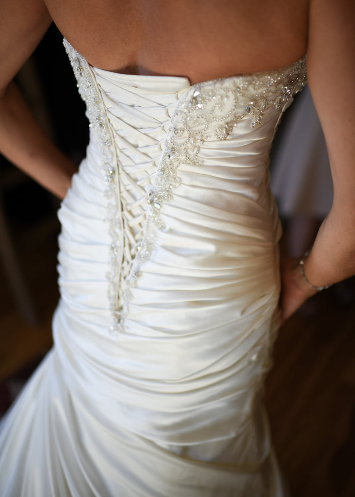 Maggie Sottero 'Strapless Satin Wrap' - Maggie Sottero - Nearly Newlywed Bridal Boutique - 4