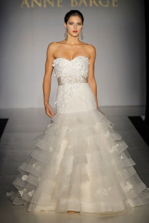 Anne Barge Devereaux Ball Gown with 3D Flowers Wedding Dress