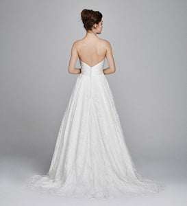 Kelly Faetanini 'Aster' size 10 new wedding dress back view on model