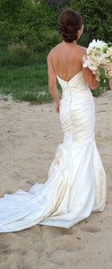 Valena Valentina 'Custom' size 2 used wedding dress back view on bride
