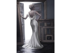 Casablanca 'B055' size 4 used wedding dress back view on model