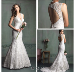 Allure '9104' size 6 new wedding dress varied views on model