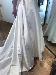 BHLDN 'Opaline' size 4 new wedding dress back view on bride