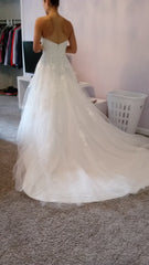Venus 'AT4562' size 6 new wedding dress back view on bride