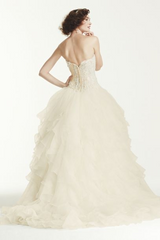 Oleg Cassini 'Strapless Corset Ball Gown' - Oleg Cassini - Nearly Newlywed Bridal Boutique - 1