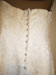 Michelle Roth Mermaid Alencon Lace Wedding Dress - Michelle Roth - Nearly Newlywed Bridal Boutique - 3