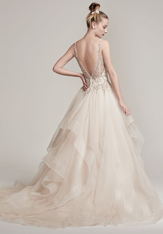Sottero and Midgley 'Amelie' size 8 new wedding dress back view on model