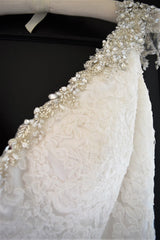Maggie Sottero 'Cynthia' size 14 new wedding dress view of beadwork