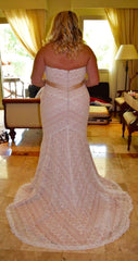 Wtoo 'Betty' size 20 used wedding dress back view on bride