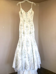 Stephen Yearick 'Couture' size 2 used wedding dress front view on hanger