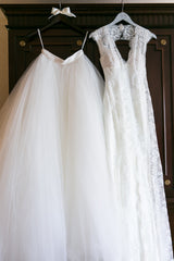 Monique Lhuillier 'Gown and Lilac Skirt' - Monique Lhuillier - Nearly Newlywed Bridal Boutique - 2