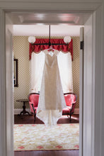 Load image into Gallery viewer, Modern Trousseau 'Honey' size 12 used wedding dress front view on hanger