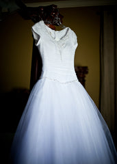 Symphony of Venus 'TB7678' size 8 used wedding dress front view on hanger