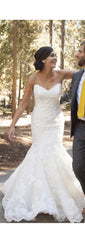 La Soie Bridal 'Caroline' size 10 used wedding dress front view on bride