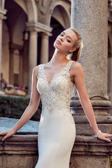 Eddy K. 'Milano' size 8 new wedding dress front view on model