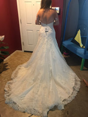 Maggie Sottero 'Camden' size 12 new wedding dress back view on bride