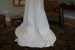 Christos 'Lace' size 4 used wedding dress view of train