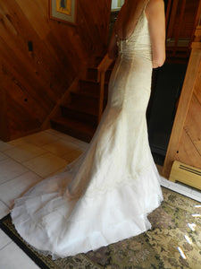 Agnes 'Lace and Satin' - Agnes - Nearly Newlywed Bridal Boutique - 3