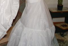 David's Bridal '9606' size 12 used wedding dress view of train