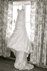 Maggie Sottero 'Adeline Marie' size 6 used wedding dress front view on hanger