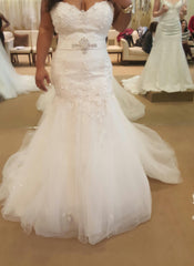 Demetrios '7521' size 18 new wedding dress front view on bride