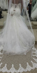 Demetrios '7521' size 18 new wedding dress back view on bride