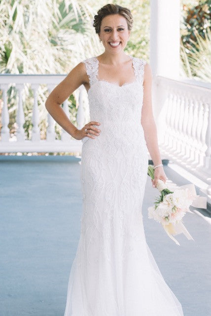 Monique Lhuillier 'Charmaine' - Monique Lhuillier - Nearly Newlywed Bridal Boutique - 5