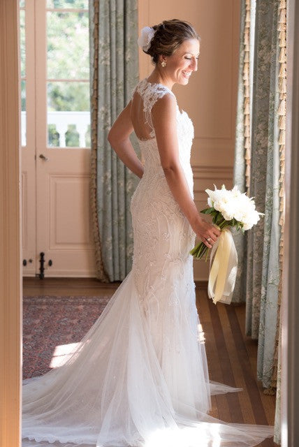 Monique Lhuillier 'Charmaine' - Monique Lhuillier - Nearly Newlywed Bridal Boutique - 7