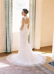 Monique Lhuillier 'Charmaine' - Monique Lhuillier - Nearly Newlywed Bridal Boutique - 9
