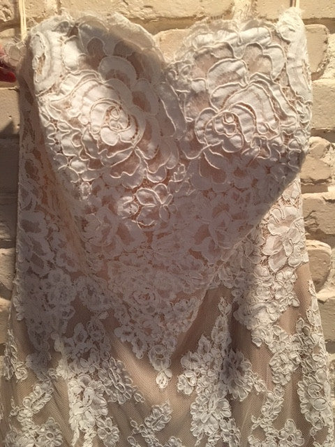 Anne Barge '617' size 6 new wedding dress front view on hanger