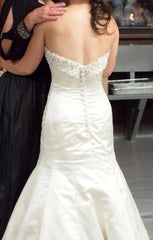 Maggie Sottero 'MS-R1117' size 4 used wedding dress back view on bride