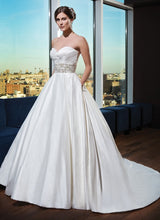 Load image into Gallery viewer, Justin Alexander 'Classic Ballgown' - JUSTIN ALEXANDER - Nearly Newlywed Bridal Boutique - 3