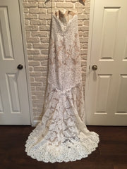 Anne Barge '617' size 6 new wedding dress back view on hanger