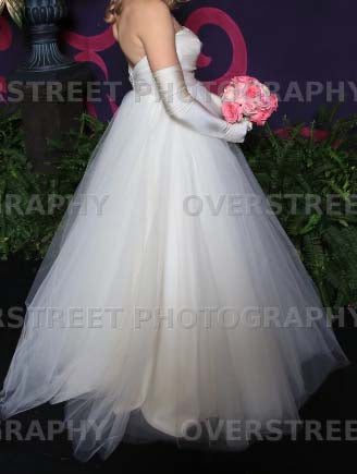 Tar Keely '2161' size 8 used wedding dress side view on bride