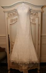 Allure '2751' size 12 used wedding dress front view on hanger