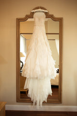 Inbal Dror 'BR 17-04' size 6 used wedding dress front view on hanger