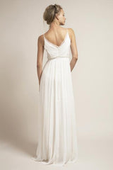 Saja 'HB6622' size 2 used wedding dress back view on model