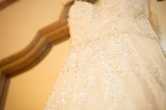 Inbal Dror 'BR 17-04' size 6 used wedding dress close up of fabric