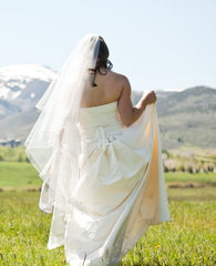 Vera Wang Domonique Silk A-line Wedding Dress - Vera Wang - Nearly Newlywed Bridal Boutique - 2