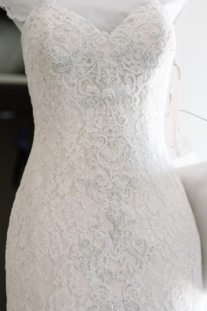 Danielle Caprese 'Sweetheart Mermaid' size 4 used wedding dress front view