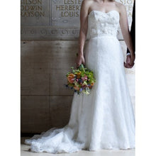 Load image into Gallery viewer, Anaiss 'Sophie' Lace & Beaded Wedding Dress - Anaiss - Nearly Newlywed Bridal Boutique - 1
