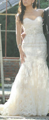 Ines Di Santo 'Amour' size 2 used wedding dress front view on bride