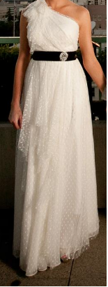 Carmen Marc Valvo 'Dotted Tulle' - Carmen Marc valvo - Nearly Newlywed Bridal Boutique - 1