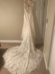Martina Liana '832' size 8 used wedding dress back view on hanger