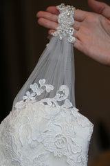 Allure Style 2606 Ivory Lace Wedding Gown - Allure - Nearly Newlywed Bridal Boutique - 4