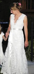 Sposa by St. Pucchi Lace Alencon Gown - Sposa by St. Pucchi - Nearly Newlywed Bridal Boutique - 2
