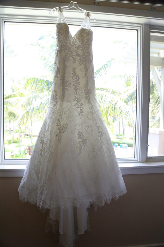 Allure Style 2606 Ivory Lace Wedding Gown - Allure - Nearly Newlywed Bridal Boutique - 5
