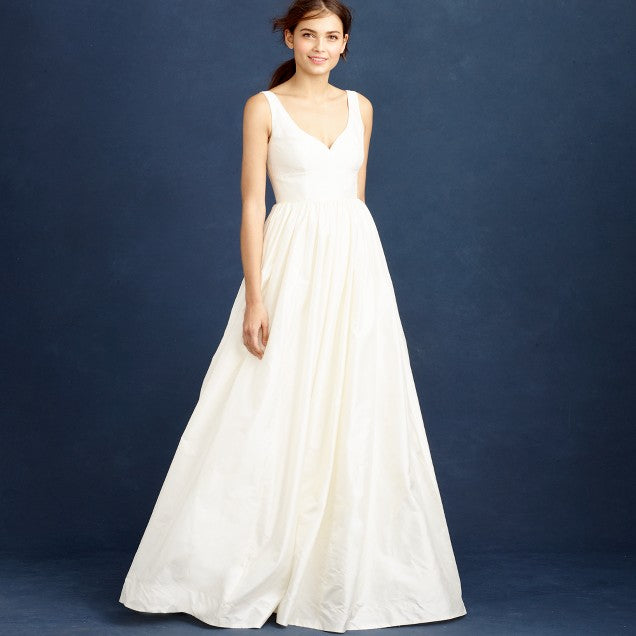 J Crew 'Karlie' size 6 new wedding dress front view on model